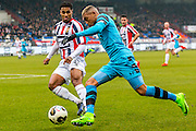 TILBURG - 19-02-2017, Willem II - AZ, Koning Willem II Stadion, Willem II speler Darryl Lachman, AZ speler Dabney dos Santos Souza