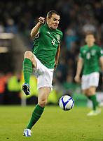 Fotball<br /> Irland v Tyskland<br /> 12.10.2012<br /> Foto: Witters/Digitalsport<br /> NORWAY ONLY<br /> <br /> John O'Shea (Irland)<br /> Fussball, WM-Qualifikation, Irland - Deutschland 1:6