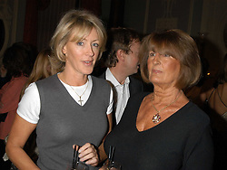 Left to right, LADY COSIMA SOMERSET and LADY ANNABEL GOLDSMITH at a party hosted by Tatler magazine to celebrate the publication of Lunar park by Bret Easton Ellis held at Home House, 20 Portman Square, London W1 on 5th October 2005.<br />