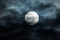 """The 'pink' supermoon April 7 2020  Crescent Beach, Nova Scotia, Canada. The pink moon is named for native North American wildflowers that bloom in early springtime: Phlox subulata, known as """"moss pink."""""""
