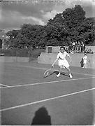 30/08/1952<br /> 08/30/1952<br /> 30 August 1952<br /> Tennis - Irish National Junior Championships at Fitzwilliam Tennis Club, Appian Way, Dublin.  Irish Senior Girls Tennis Champion runner-up Miss Hadassah Robinson, Coleraine,