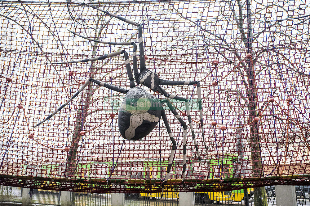 January 3, 2018 - Poznan, Wielkopolska, Poland - January 3, 2018 - Poznan, Poland - Zoo is 142 years old and is one of the oldest zoological gardens in Poland. There are old pieces of equipment in it, but currently the Zoo is undergoing a gradual renovation. In the picture: rope park decoration. (Credit Image: © Dawid Tatarkiewicz via ZUMA Wire)