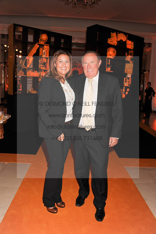 ANDREW NEIL and SUSAN NILSSON at the annual Veuve Clicquot Business Woman of the Year Award this year celebrating it's 40th year, held at Claridge's, Brook Street, London on 18th April 2012.