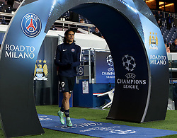 Edinson Cavani of Paris Saint-Germain runs out to warm up at Parc des Princes - Mandatory by-line: Robbie Stephenson/JMP - 06/04/2016 - FOOTBALL - Parc des Princes - Paris,  - Paris Saint-Germain v Manchester City - UEFA Champions League Quarter Finals First Leg