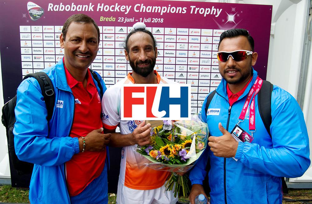 BREDA - Rabobank Hockey Champions Trophy<br /> The Netherlands - Belgium<br /> Photo: Sardar Singh 300th cap.<br /> COPYRIGHT WORLDSPORTPICS FRANK UIJLENBROEK