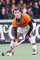 AMSTERDAM - Amsterdam - Oranje Zwart , Wagener Stadion , Hockey , Play-off hoofdklasse hockey heren , 03-05-2015 , Oranje Zwart speler Marcel Balkestein