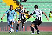 Udine, 02 Ottobre 2011.Campionato di calcio Serie A 2011/2012  6^ giornata..Udinese vs Bologna. Stadio Friuli..Nella foto:  Alessandro Diamanti con Giampiero Pinzi..© foto di Simone Ferraro