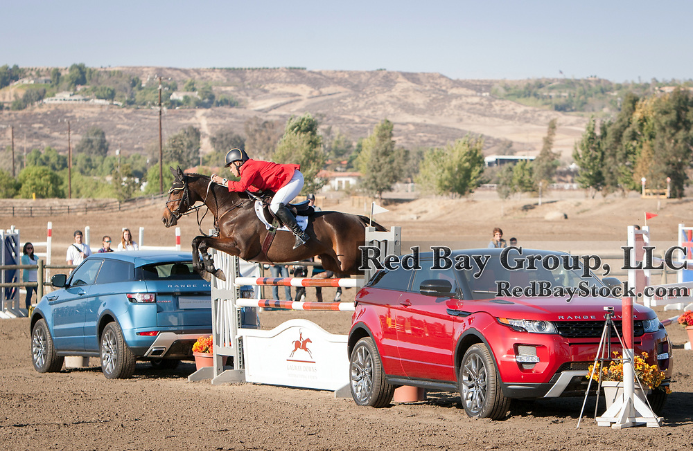 Buck Davidson (USA) and Petite Flower at the Galway Downs International Three Day Event in Temecula, California.