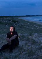 Wand Murders Story. Richard Lawson in the Green Hills on Wanda Beach looking across to Kurnell..