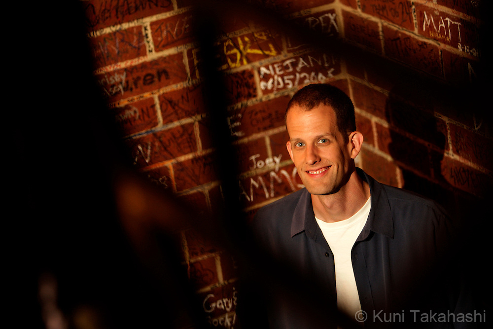 "Pete Docter, director of Disney/Pixar's movie ""Up"", poses at Gino's East in downtown Chicago on April 14, 2009."