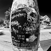 B&W Fisheye of Westport Road, Kansas City, Sunday July 10, 2011.