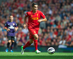 02.09.2012, Anfield, Liverpool, ENG, Premier League, FC Liverpool vs FC Arsenal, 2. Runde, im Bild Liverpool's new loan signing from Real Madrid Nuri Sahin in action against Arsenal during the English Premier League 2nd round match between Liverpool FC and Arsenal FC at Anfield, Liverpool, Great Britain on 2012/09/02. EXPA Pictures © 2012, PhotoCredit: EXPA/ Propagandaphoto/ David Rawcliff..***** ATTENTION - OUT OF ENG, GBR, UK *****