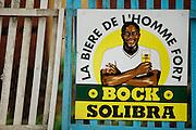 Beer advert in Dimbokro, Cote d'Ivoire on Friday June 19, 2009.