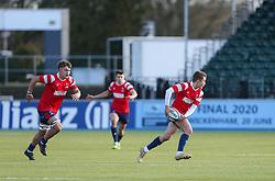 Angus Judkins of Bristol Bears U18 passes the ball - Mandatory by-line: Arron Gent/JMP - 12/01/2020 - RUGBY - Allianz Park - London, England - Saracens U18 v Bristol Bears U18 - Premiership U18 Academy
