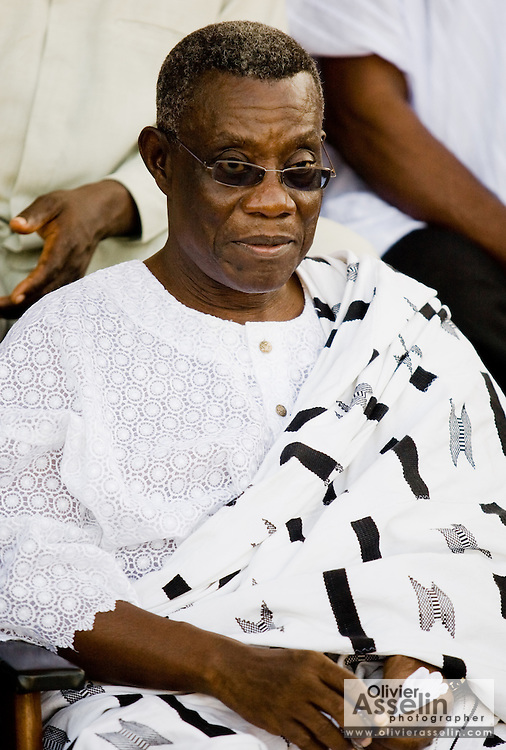 National Democratic Congress (NDC) candidate Atta Mills during a traditional festival in Cape Coast, Ghana on Saturday September 6, 2008.