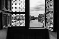 River View From inside The Chenonceau Castle - Chenonceau, Loire Valley, France, July 2017