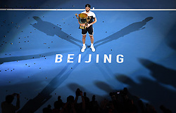 BEIJING, Oct. 7, 2018  Nikoloz Basilashvili of Georgia poses with the trophy during the awarding ceremony of the men's singles event at the China Open tennis tournament in Beijing, capital of China on Oct. 7, 2018. Basilashvili won 2-0 and claimed the title. (Credit Image: © Xinhua via ZUMA Wire)