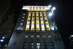 May 5, 2017 - SâO Paulo, São paulo, Brazil - The Municipality of São Paulo, through the Municipal Secretariat of Mobility and Transportation, will participate with more than one hundred activities in May Yellow, a movement that happens in various parts of the world to encourage the coexistence of modalities and to make everyone aware of the importance of reducing The rates of deaths and injuries in traffic. Some monuments of the city will be illuminated in yellow by Ilume (Department of Public Lighting), Viaduto do Chá, the façade of the building of the city hall, among others. (Credit Image: © Cris Faga via ZUMA Wire)