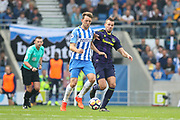 Brighton and Hove Albion midfielder Dale Stephens (6) battles with Everton midfielder Morgan Schneiderlin (2) during the Premier League match between Brighton and Hove Albion and Everton at the American Express Community Stadium, Brighton and Hove, England on 15 October 2017. Photo by Phil Duncan.