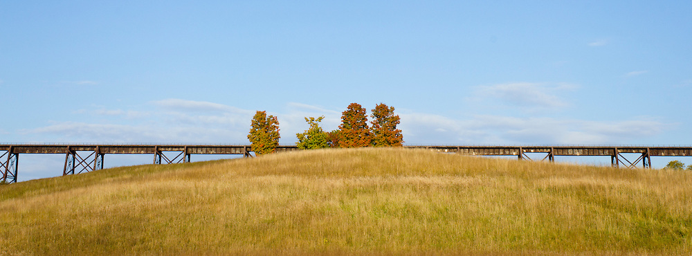 Salisbury Mills, New York  - Autumn scenes by the Moodna Creek and  Moodna Viaduct on Oct. 5, 2013.