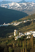 SPAIN, ANDALUSIA the villages of Bubion and Capileira in the Alpujarras area of the Sierra Nevada Mountains, south of Granada