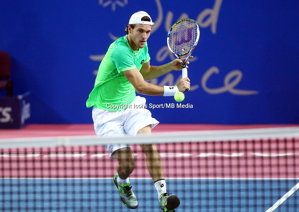 JOAO SOUSA - 07.02.2015 - Tennis - Open Sud de France- Montpellier<br /> Photo : Andre Delon / Icon Sport