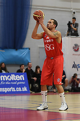 Bristol Flyers' Doug McLaughlin-Williams takes a free throw - Photo mandatory by-line: Paul Knight/JMP - Mobile: 07966 386802 - 15/11/2014 - SPORT - Football - Bristol - SGS Wise Arena - Bristol Flyers v Cheshire Phoenix - Bristol Basketball League
