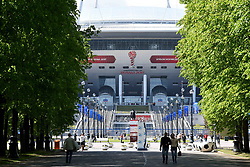 June 14, 2017 - St. Peterburg, Russia - Russia, St. Petersburg, June 14, 2017. Cup of the FIFA Confederations in 2017 in Russia. In the picture: the preparation of the city for the FIFA Confederations Cup 2017. The stadium ''St. Petersburg Arena'', which will host the football games of the Confederations Cup of FIFA 2017. (Credit Image: © Andrey Pronin via ZUMA Wire)