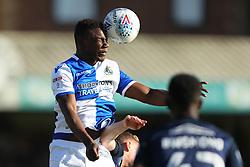 Bernard Mensah of Bristol Rovers clears the ball - Mandatory by-line: Richard Calver/JMP - 05/05/2018 - FOOTBALL - Roots Hall - Southend-on-Sea, England - Southend United v Bristol Rovers - Sky Bet League One