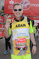 Adam Woodyatt (Eastenders actor running for The Air Ambulance Service). The Virgin Money London Marathon, 23rd April 2017.<br /> <br /> Photo: Joanne Davidson for Virgin Money London Marathon<br /> <br /> For further information: media@londonmarathonevents.co.uk
