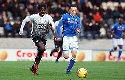 Leonardo Da Silva Lopes of Peterborough United is tracked by Ollie Rathbone of Rochdale - Mandatory by-line: Joe Dent/JMP - 25/11/2017 - FOOTBALL - Crown Oil Arena - Rochdale, England - Rochdale v Peterborough United - Sky Bet League One