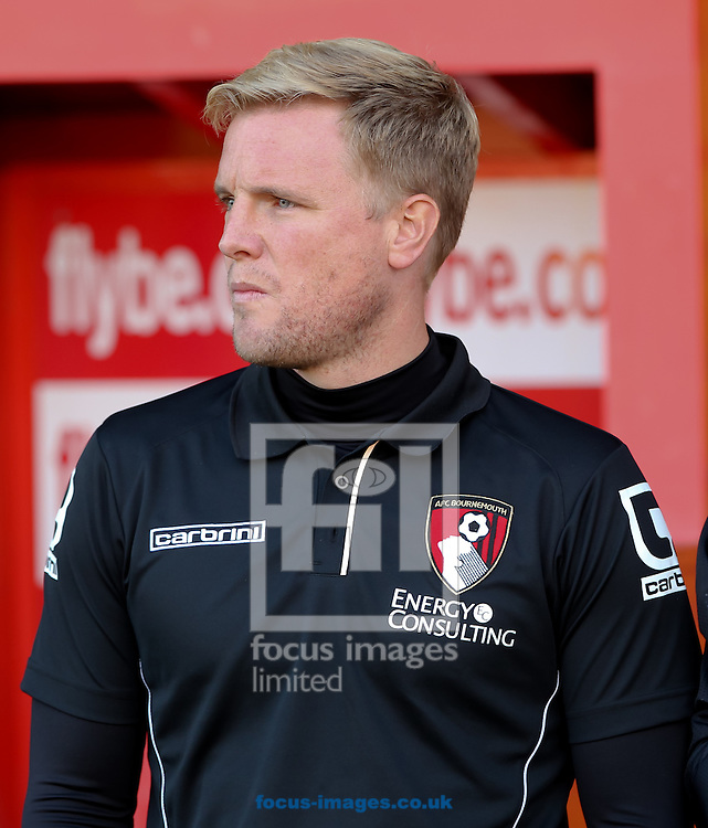 AFC Bournemouth Manager Eddie Howe before the Capital One Cup match at St James' Park, Exeter<br /> Picture by Tom Smith/Focus Images Ltd 07545141164<br /> 12/08/2014