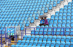 Rain stops play during day five of the AEGON International at Devonshire Park, Eastbourne.