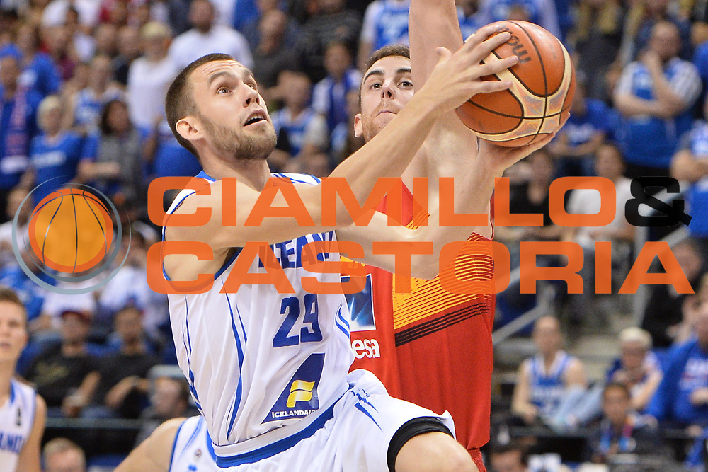 DESCRIZIONE : Berlino Berlin Eurobasket 2015 Group B Spain Iceland<br /> GIOCATORE : Aegir Steinarsson<br /> CATEGORIA : Penetrazione curiosit&agrave;<br /> SQUADRA : Iceland<br /> EVENTO : Eurobasket 2015 Group B <br /> GARA : Spain Iceland<br /> DATA : 09/09/2015 <br /> SPORT : Pallacanestro <br /> AUTORE : Agenzia Ciamillo-Castoria/Mancini Ivan<br /> Galleria : Eurobasket 2015 <br /> Fotonotizia : Berlino Berlin Eurobasket 2015 Group B Spain Iceland