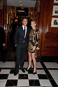 Prince Emanuele Filiberto of Savoia; Clotilde, Princess of Venice and Piedmont;, Graydon Carter hosts a dinner to celebrate the reopening og the American Bar at the Savoy.  Savoy Hotel, Strand. London. 28 October 2010. -DO NOT ARCHIVE-© Copyright Photograph by Dafydd Jones. 248 Clapham Rd. London SW9 0PZ. Tel 0207 820 0771. www.dafjones.com.