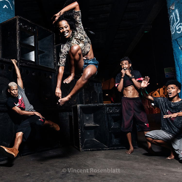 Marcelly or Celly IDD (Imperadores da Dança) is the most famous Passinho female dancer in Brazil. Baile Funk essay for C&A Brazil and their NBA collection, shot in Madureira, North Zone of Rio de Janeiro.
