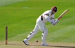 Somerset's Marcus Trescothick flicks the ball. - Photo mandatory by-line: Harry Trump/JMP - Mobile: 07966 386802 - 07/04/15 - SPORT - CRICKET - Pre Season - Somerset v Lancashire - Day 1 - The County Ground, Taunton, England.