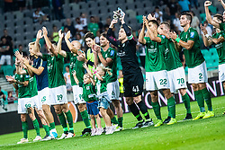 Players of NK Olimpija celebrating after victory over NK Domzale, 4:2, during football match between NK Olimpija and NK Domzale in 2nd Round of Prva liga Telekom Slovenije 2019/20, on July 21st, 2019, in Stadium Stozice, Ljubljana, Slovenia. Photo by Grega Valancic / Sportida