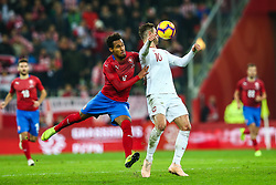 November 15, 2018 - Gdansk, Poland - Grzegorz Krychowiak of Poland vies Theodor Gebre Selassie of Czech Republicduring the international friendly soccer match between Poland and Czech Republic at Energa Stadium in Gdansk, Poland on 15 November 2018. (Credit Image: © Foto Olimpik/NurPhoto via ZUMA Press)
