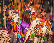 Traditional marionettes in Myanmar