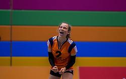 22-10-2016 NED: TT Papendal/Arnhem - Coolen Alterno, Arnhem<br /> Alterno heeft haar eerste overwinning binnen in de eredivisie. Na twee nederlagen schreef de Apeldoornse ploeg zaterdagmiddag in Valkenhuizen een 0-3 zege bij / Sarah van Aalen #2 of Talent Team