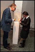 DICKON TYRELL; JESS TYRELL, KALEIDOSCOPE edition by  Yinka Shonibare-MBE  studio launch, Multiple Store,  Dalston,  2 October 2014.