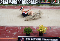 Heather Miller competes during the long jump portion of the heptathalon during day 9 of the U.S. Olympic Trials for Track & Field at Hayward Field in Eugene, Oregon, USA 30 Jun 2012..(Jed Jacobsohn/for The New York Times)....