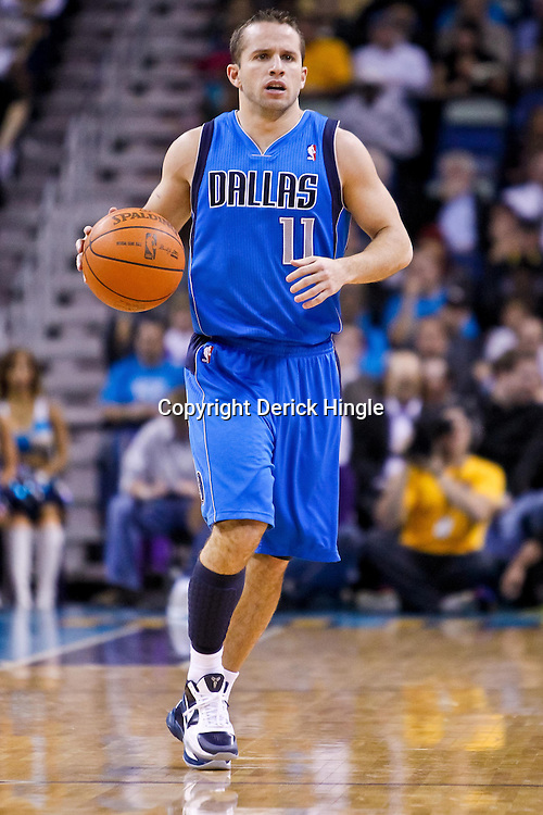 November 17, 2010; New Orleans, LA, USA; Dallas Mavericks point guard Jose Juan Barea (11) against the New Orleans Hornets during the first half at the New Orleans Arena. Mandatory Credit: Derick E. Hingle