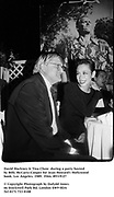 David Hockney & Tina Chow  during a party hosted by Billy McCarty-Cooper for Jean Howard's Hollywood book. Los Angeles. 1989. Film.89319/27<br />