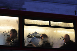 Tube Strike. Bus passengers wait on the board at Marble Arch tube station. Marble Arch, London, United Kingdom. Wednesday, 5th February 2014. Picture by Peter Kollanyi / i-Images
