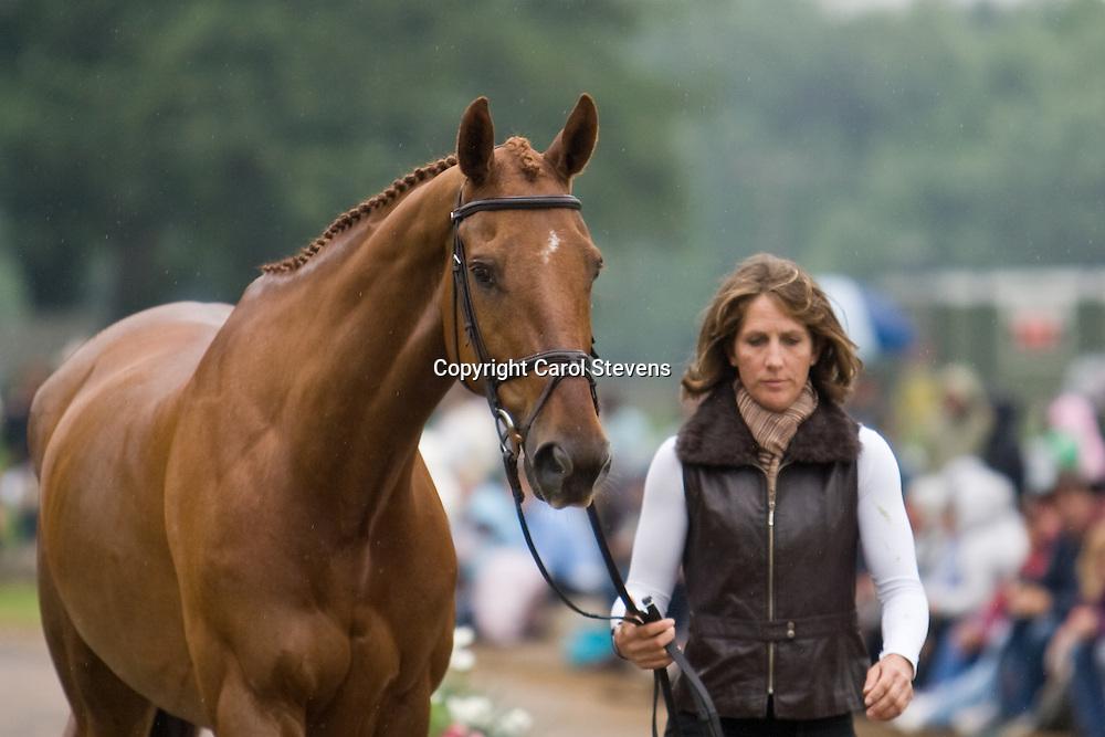 Caroline Powell and MacMacdonald at Bramham Horse Trials 2010 CCI***