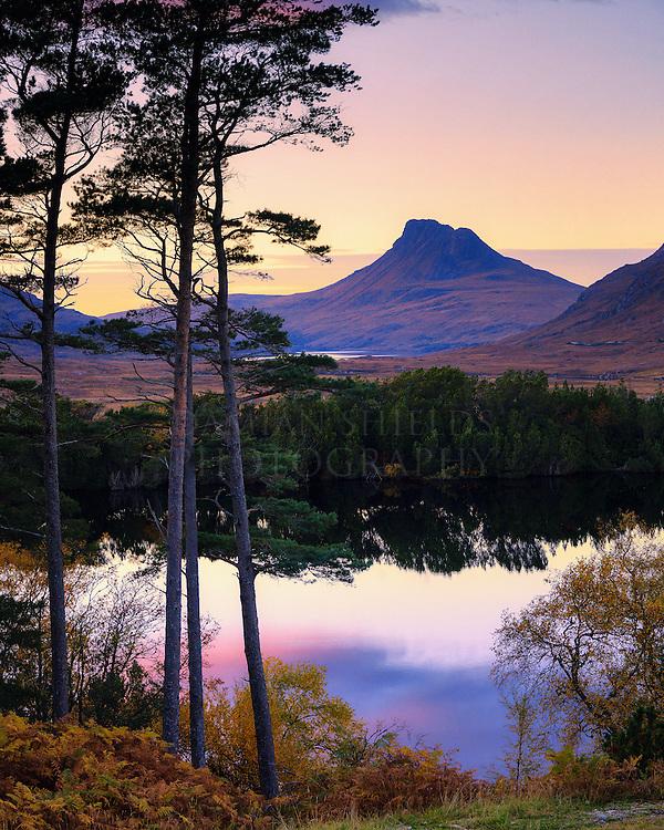 Purple dusk, Loch Cul Drommanan
