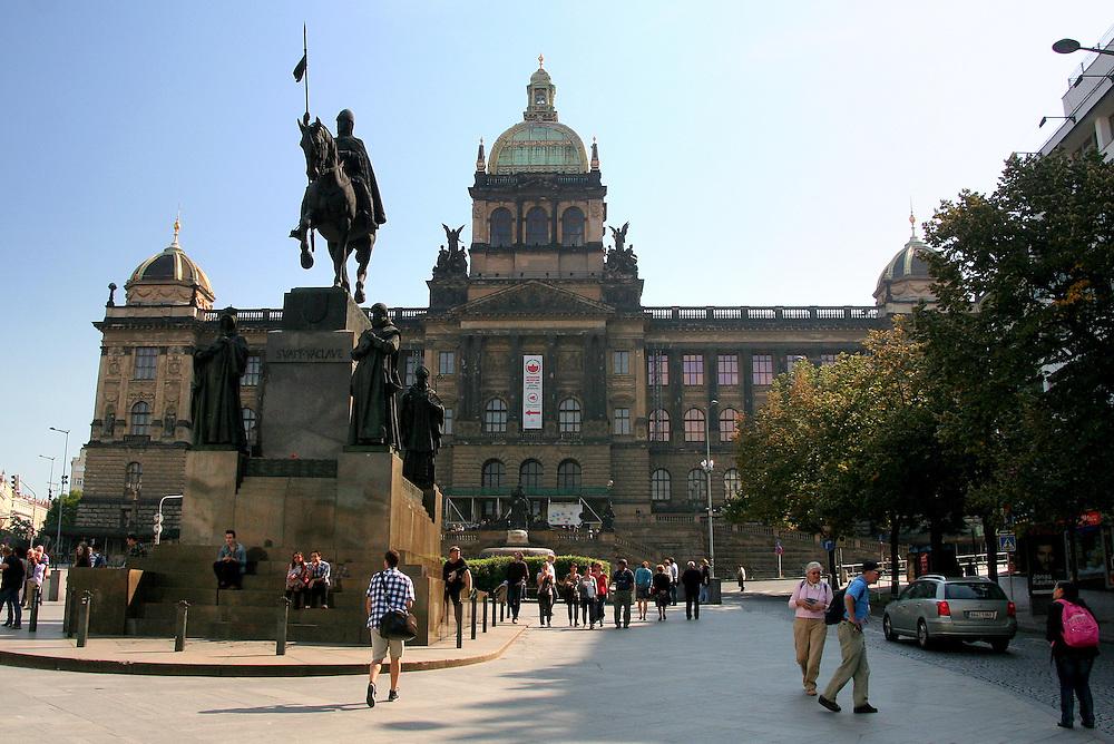 Wenceslas Monument & National Museum ( Národní muzeum), Prague, Czech Republic