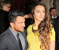 Peter Andre; Emily MacDonagh, The Television and Radio Industries Club (TRIC) Awards, Grosvenor House Hotel, London UK, 11 March 2014, Photo by Richard Goldschmidt